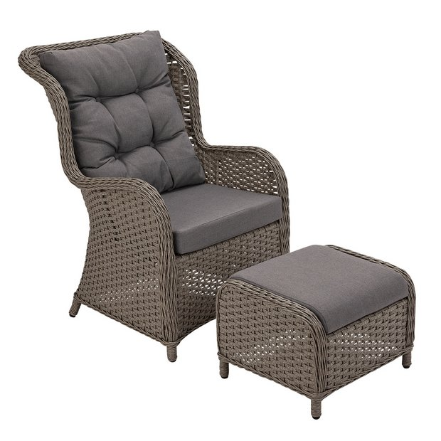 Buy Argos Home Dave Garden Chair And Stool Garden Chairs And Sun Loungers Argos
