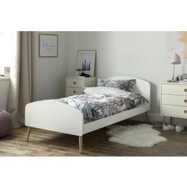 Argos Home Bodie White Single Bed Frame & Kids Mattress