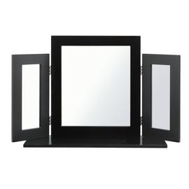 Argos Home Triple Dressing Table Mirror - Black