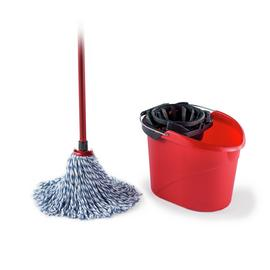SuperMocio Microfibre Cotton Mop with Torsion Wringer Bucket