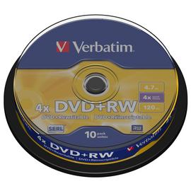 Verbatim DVD+RW 4X Speed - 10 Pack Spindle