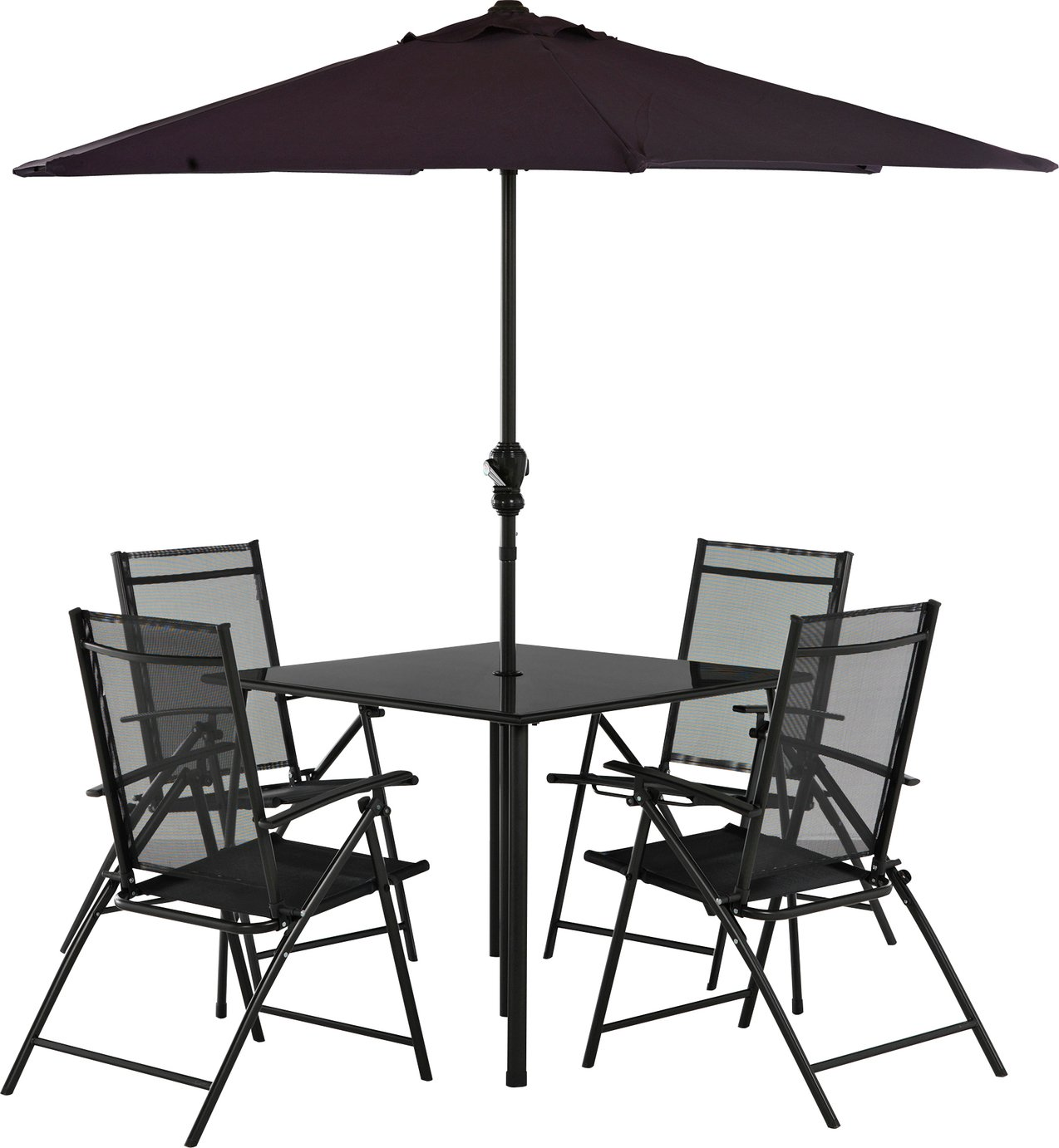 Buy HOME Milan 4 Seater Patio Set At Argos.co.uk   Your Online Shop For  Garden Table And Chair Sets, Garden Furniture, Home And Garden.