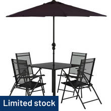 Argos Home Milan 4 Seater Metal Patio Set