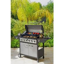 Deluxe 6 Burner Gas BBQ with Cover