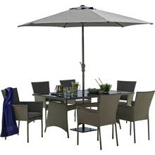 Collection Havana 6 Seater Rattan Effect Patio Set