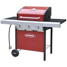Outback Apollo 3 Burner Propane Gas BBQ - Red