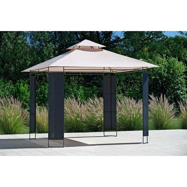Buy Collection Rattan Effect Square Garden Gazebo At Argoscouk