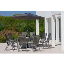 Collection Malibu 8 Seater Metal Patio Set