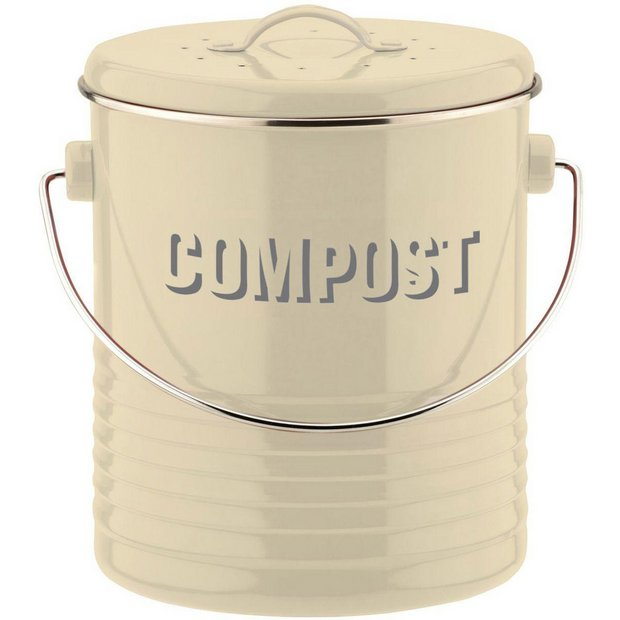 buy typhoon vintage kitchen compost caddy cream at argos. Black Bedroom Furniture Sets. Home Design Ideas