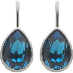 cf6a10d0010398 Revere Sterling Silver Blue Swarovski Crystal Drop Earrings