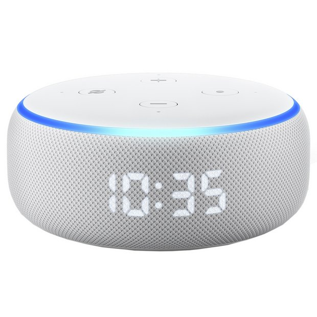 Echo Dot (3rd Generation 2019) with Clock