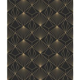 Sublime Diamond Black Geometric Wallpaper
