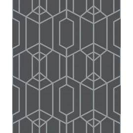 Superfresco Easy Albany Charcoal Geometric Wallpaper