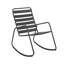 Argos Home Steel Rocking Chair - Charcoal