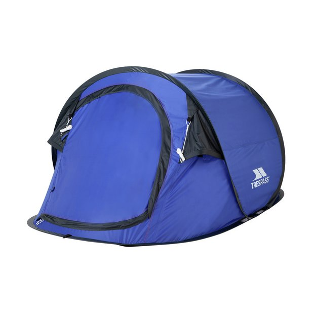 Trespass 2 Man 1 Room Pop Up Camping Tent