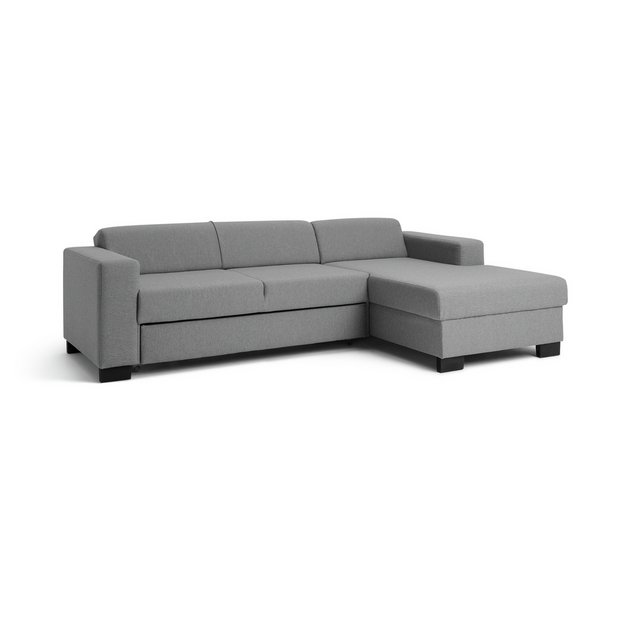 Buy Argos Home Ava Corner Fabric Sofa Bed Light Grey   Sofa beds   Argos