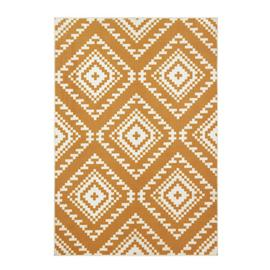 Argos Home Global Geo Rug - 120x170cm - Mustard