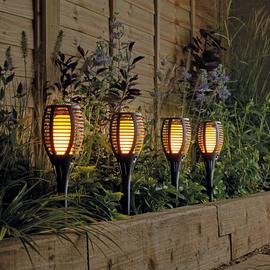 Argos Home Solar Dancing Flame Torch - 4 Pack