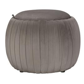 Argos Home Ellie Velvet Storage Footstool - Light Grey
