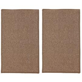 Argos Home Twin Pack Plain Doormats - Beige