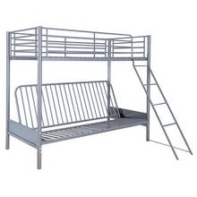 Argos Home Metal Futon Bunk Bed with Kids Mattress - Blue