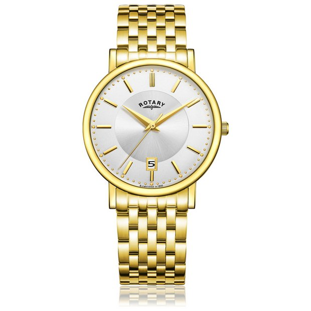 buy rotary men s watches at argos co uk your online shop for more details on rotary men s slim gold plated bracelet watch
