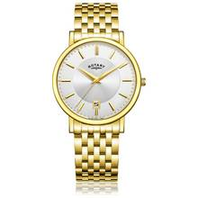 Rotary Men's Slim Gold Plated Bracelet Watch