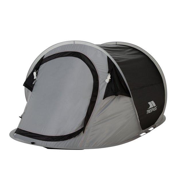 Trespass 2 Man 1 Room Pop Up Tunnel Camping Festival Tent