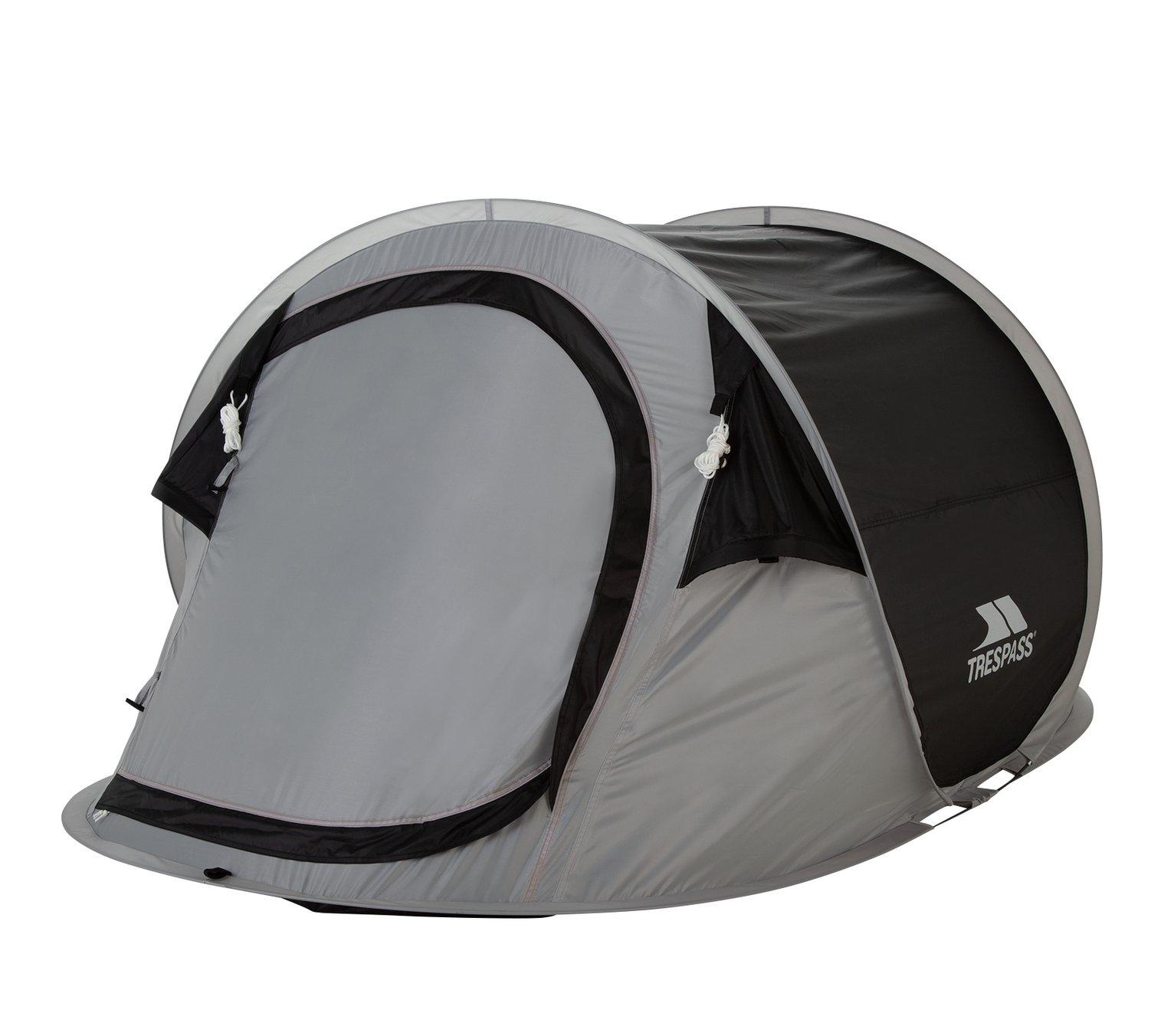Trespass 2 Man 1 Room Festival Pop Up Tent Black  sc 1 st  Argos & Tents | Argos