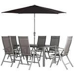 more details on Collection Malibu 6 Seater Steel Patio Set - Black.
