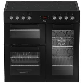 Beko KDVC90K 90cm Electric Range Cooker - Black