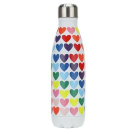 Rainbow Heart Print Water Bottle - 500ml
