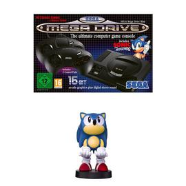 SEGA Mega Drive Mini & Cable Guy Device Holder Bundle- Sonic