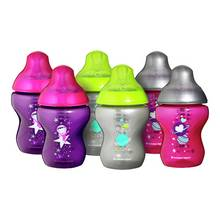 Tommee Tippee 6 x 260ml Decorated Bottles