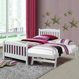 Snowy Bed with Pop Up Trundle