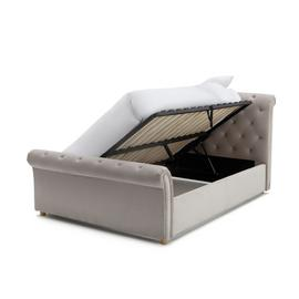 Argos Home Harrogate Kingsize Side Open Ottoman Bed - Silver