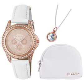 Tikkers Children's Quartz Watch with Pink Dial Analogue Display and Pink Silicone Strap ATK1020 Best Price and Cheapest