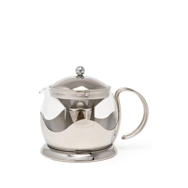 Buy la cafetiere leteapot stainless steel 4 cup teapot at - Cup stainless steel teapot ...