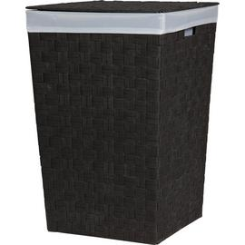 Argos Home 60 Litre Yarn Laundry Bin - Black