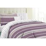more details on HOME Milan Plum Stripe Bedding Set Bundle - Kingsize.
