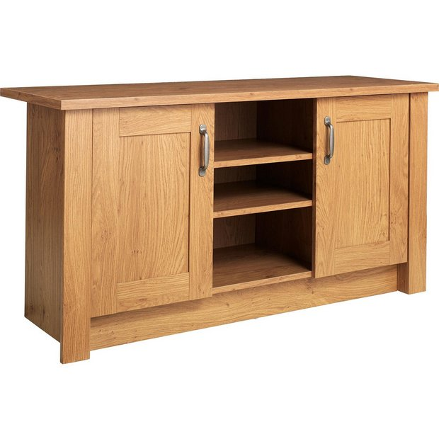 buy collection ohio 2 door low sideboard tv unit oak. Black Bedroom Furniture Sets. Home Design Ideas