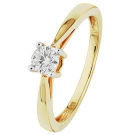 Revere 18ct Gold 0.25ct Diamond Solitaire Ring