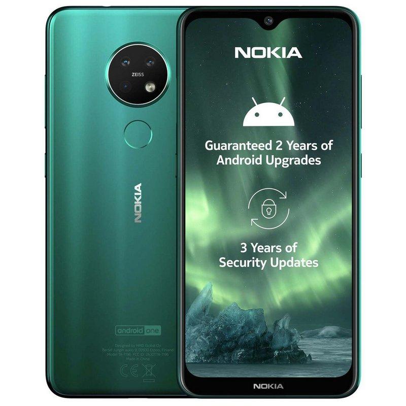 SIM Free Nokia 7.2 64GB Mobile Phone - Cyan Green from Argos