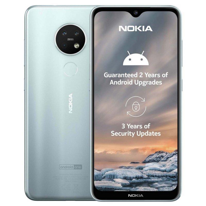 SIM Free Nokia 7.2 64GB Mobile Phone - Ice from Argos
