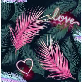 Fresco Neon Love Wallpaper