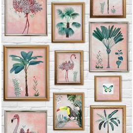 Fresco Tropical Frames Wallpaper