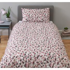 Argos Home Pink Leopard Bedding Set - Single