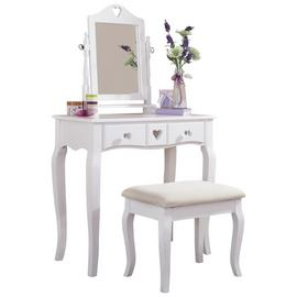 GFW Heart White Dresser & Stool