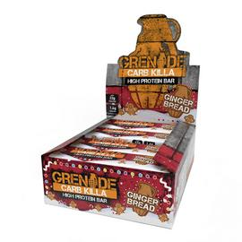 Grenade Carb Killer Christmas Gingerbread Snack Bars x 12
