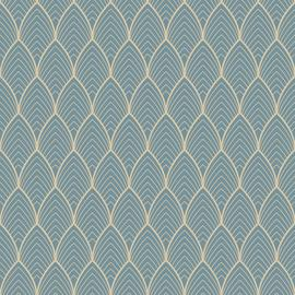 Superfresco Easy Bercy Blue & Gold Wallpaper